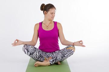 yoga girl sitting