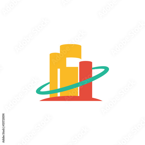 quotabstract apartment building architecture logo vector