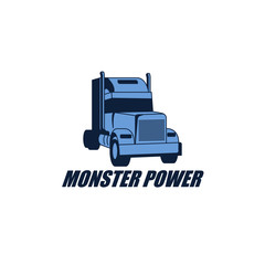 Truck Express Logo Vector Design Element