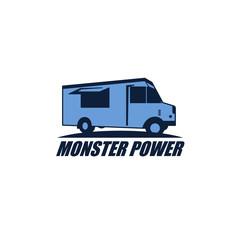 Food Truck Logo Vector Design Element
