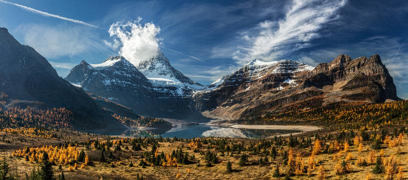 Autumn in Canada. Lake Magog
