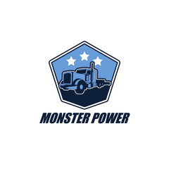 Truck Cargo Courier Logo Vector Design Element