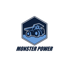 Truck Industry Business Logo Vector Design Element