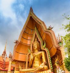 Gold big buddha statue temple wat tham sua
