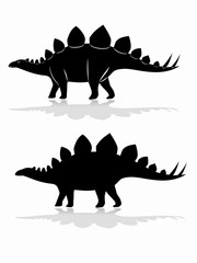 silhouette of a stegosaurus. vector drawing