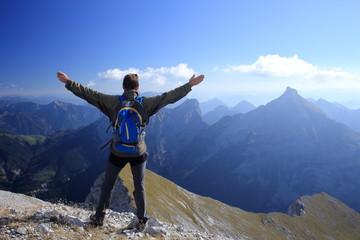 Erfolgsgefühl am Gipfel