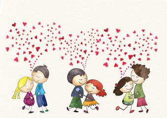 Romantic dance. Valentine's Day concept.