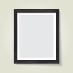 Wooden picture frame. Vector template for your presentations.