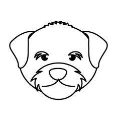 cute dog mascot head isolated icon vector illustration design