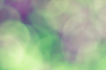 Natural Bokeh,blurred bokeh in green and purple colours