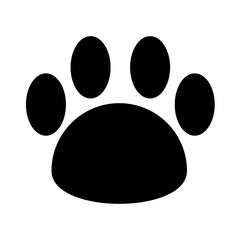 mascot footprint isolated icon vector illustration design