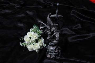 gothic black ritual accessories