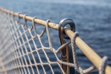Yacht net railing