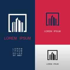 square building icon logo