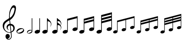 Musiknoten mit Notenschlüssel