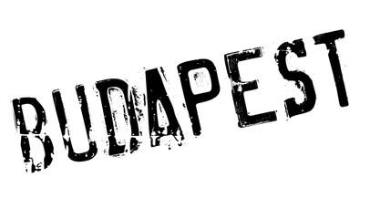 Budapest stamp rubber grunge