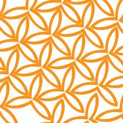 hand drawn orange modern geometrical abstract flower patterns on white background. vector illustration.