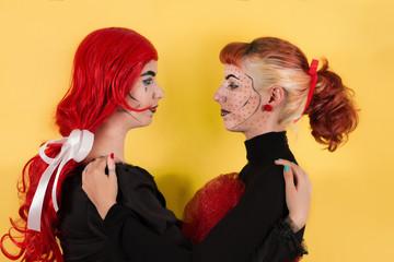 Pop art fashion girls