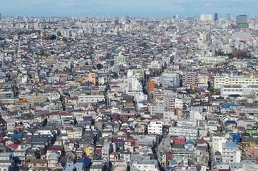 住宅密集地の展望