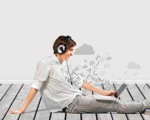 Headphones.