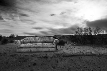 Sofa in the desert