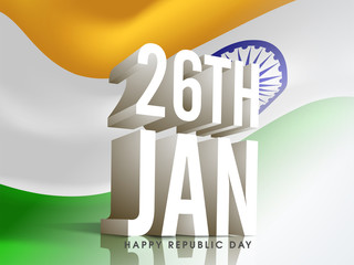3D Text for Republic Day celebration.