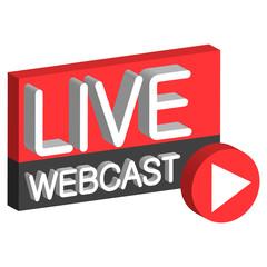Live webcast 3D button