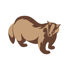 badger vector illustration style Flat