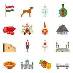 Hungary Travel Icon Set