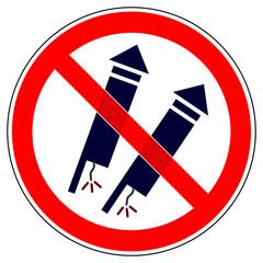 srr77 SignRoundRed - German - Verbotszeichen: Feuerwerk verboten - english - no fireworks - xxl g4870