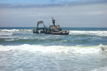 shipwreck on Skeleton coast