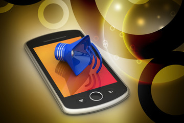 Megaphone with smart phone