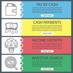 Banking and finance banner templates set