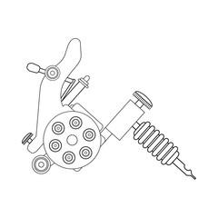 Tattoo machine linear drawing