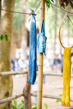 Handmade twist fabric tied in dye
