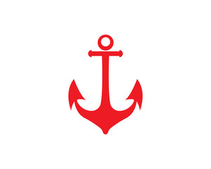 Anchor icon Logo Template