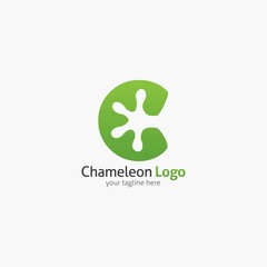 Chameleon logo design template. Vector illustration