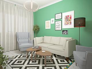 small living room interiors. 3d illustration