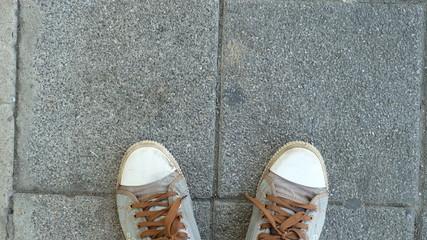 my foot on the floor