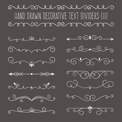 Collection of cute hand drawn vintage borders.