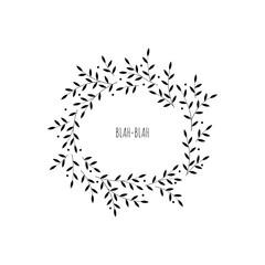 Hand-draw vector laurel wreaths.