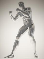 Silver man body
