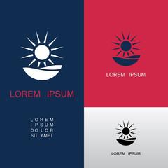 sun wave vector logo