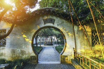 Chinese traditional garden at Suzhou in China