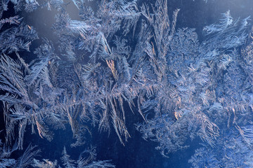 Hoarfrost on glass