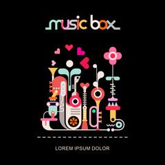 Papiers peints Art abstrait Music Box