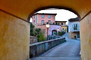 scorcio del vecchio borgo di Greve in Chianti in Toscana