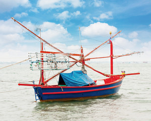 Fishing boat in Thailand Asia