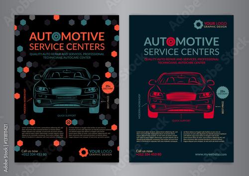 automotive service centers business layout templates a5 a4 auto repair shop brochure templates