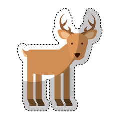 cute reindeer character icon vector illustration design